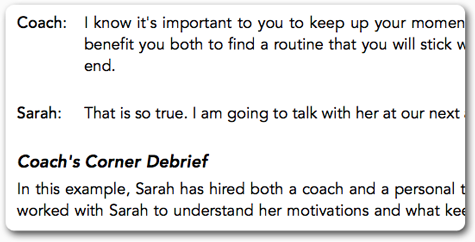 Coaching Dialogue
